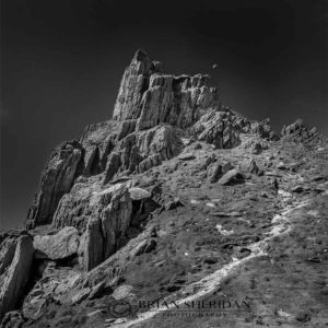 Skellig-moon_BW